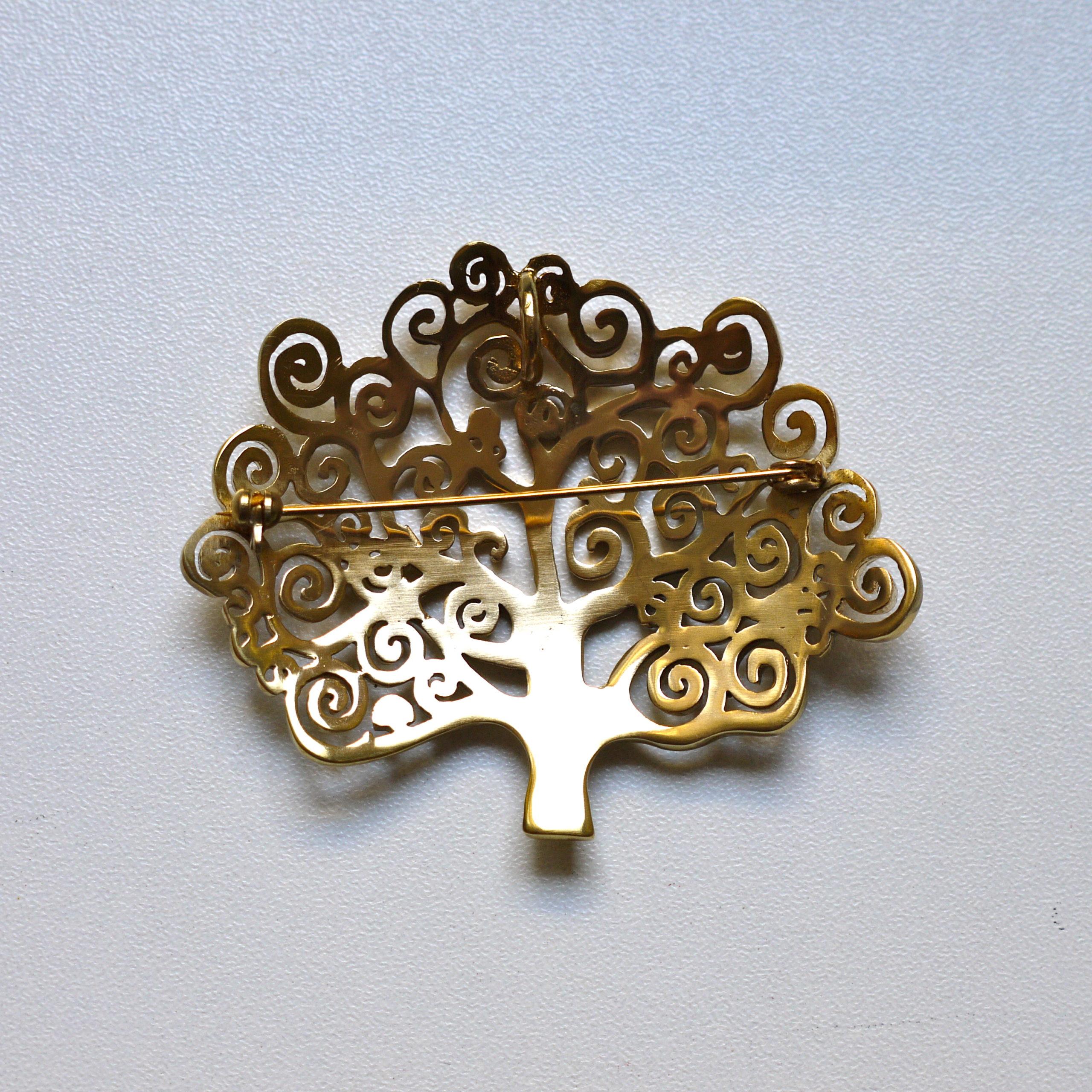 Klimt L Arbre De Vie Tableau broche pendentif arbre de vie d'après un tableau de gustav klimt